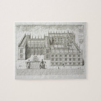 Bodleian Library, Oxford, from 'Oxonia Illustrata' Jigsaw Puzzle
