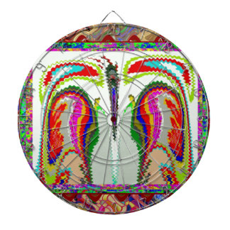 Body and Soul Abstract Graphic Art Dartboards
