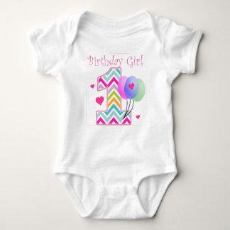 Body Anniversaire de bébé d'anniversaire de Chevron ęr