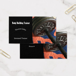 Body Builder Personal Trainer Business Card