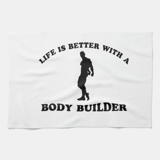 Body Building Gift Designs Kitchen Towel