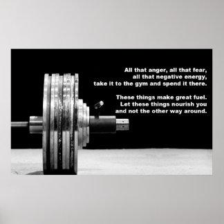 Body Building Gym Motivation Poster