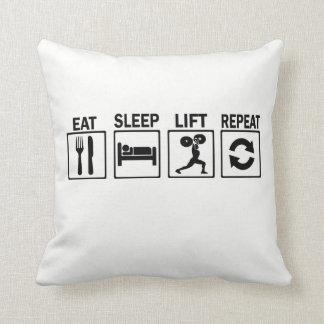 Body Building Throw Pillow