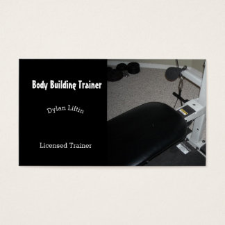 Body Building Trainer Business Card