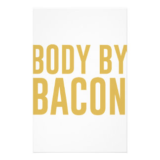 Body by Bacon Custom Stationery