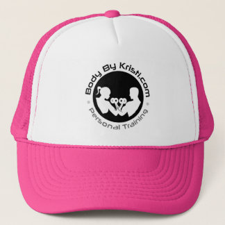 Body By Kristi Trucker Hat-Pink/White Trucker Hat