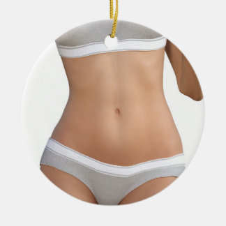 Body Contour Shaping and Aesthetic Industry Round Ceramic Ornament