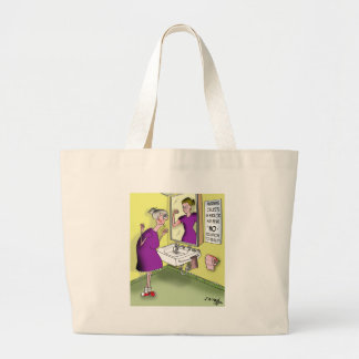Body Image Cartoon 9419 Large Tote Bag