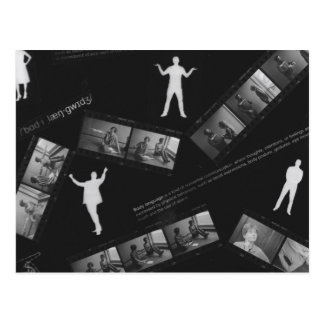 Body Language Photogram Postcard