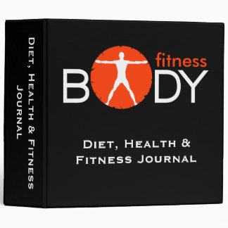 "Body Madness Black Diet Health Fitness 2"" Binder"