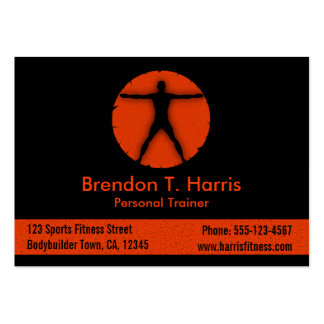Body Madness Fitness Instructor Large Biz Card Large Business Card