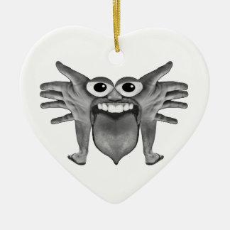 Body Part Monster Illustration Ceramic Ornament