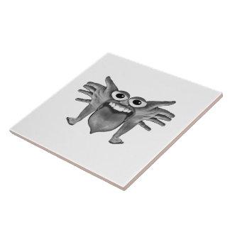 Body Part Monster Illustration Ceramic Tiles