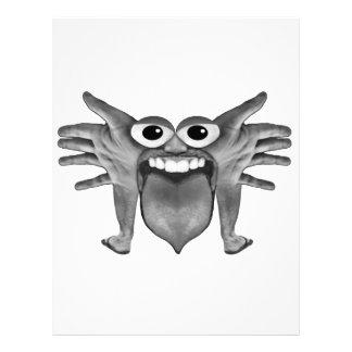 Body Part Monster Illustration Letterhead