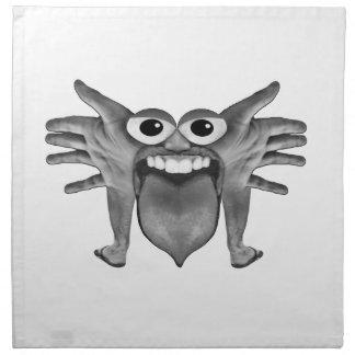 Body Part Monster Illustration Napkin