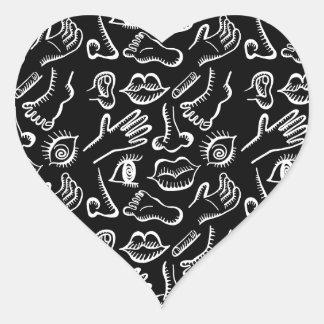 Body parts heart sticker
