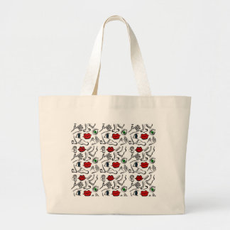 Body parts large tote bag