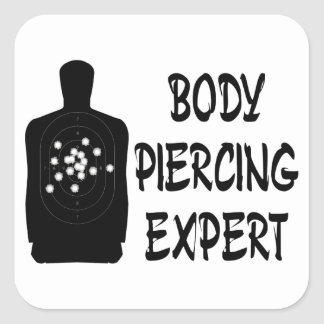Body Piercing Expert Square Sticker