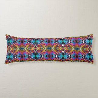 Body Pillow; Fractal Crystal Design 1 Body Pillow