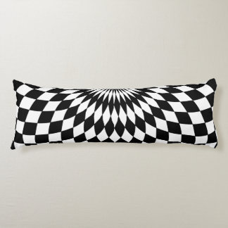 Body Pillow - Wonderland Floor Black & White