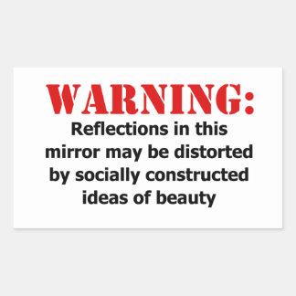 Body-Positive Mirror Warning Sticker