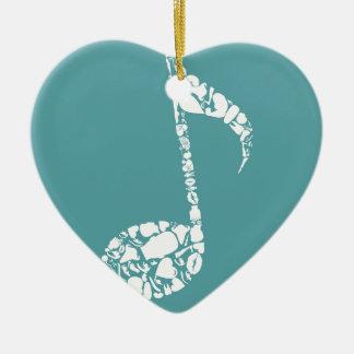 Body the note ceramic heart ornament
