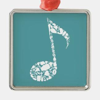 Body the note Silver-Colored square ornament