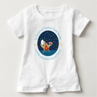 Body with starfishes & rhyme baby romper