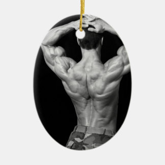 Bodybuidler Back Ornament