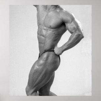 Bodybuilder In Posing Suit Poster