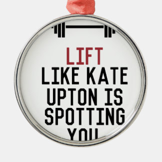 bodybuilder_kate upton metal ornament