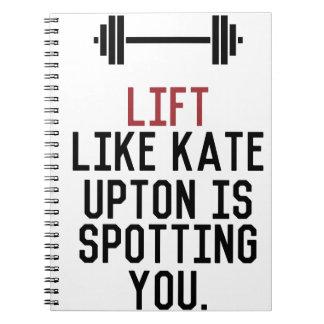 bodybuilder_kate upton spiral notebook