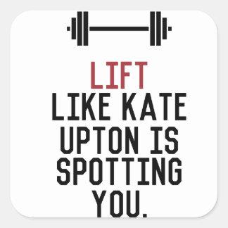 bodybuilder_kate upton square sticker