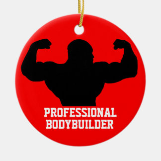 Bodybuilder Ornament Red Blue