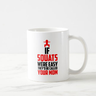 bodybuilder squats coffee mug