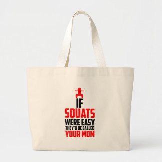 bodybuilder squats large tote bag