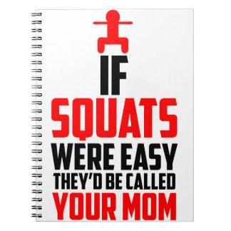 bodybuilder squats notebooks