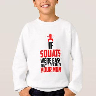 bodybuilder squats sweatshirt
