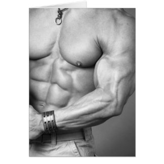 Bodybuilder Torso Notecard