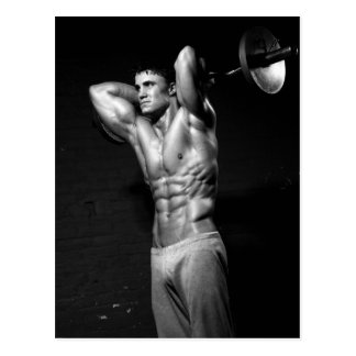 Bodybuilder Workout Gym Wall Postcard