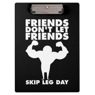 Bodybuilding - Don't Skip Leg Day - Squat Clipboard