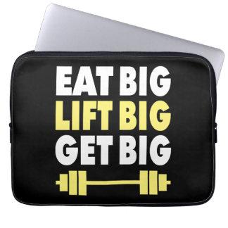 Bodybuilding - Eat Big, Lift Big, Get Big Laptop Sleeve