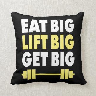 Bodybuilding - Eat Big, Lift Big, Get Big Throw Pillow