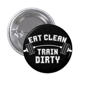 Bodybuilding - Eat Clean Train Dirty 1 Inch Round Button