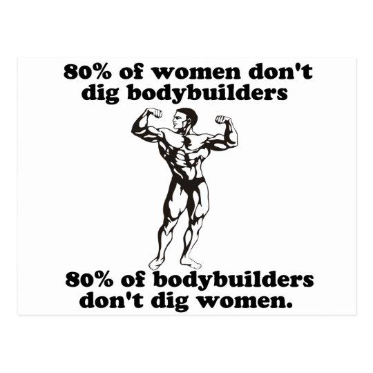 Bodybuilding Gay humour Postcard