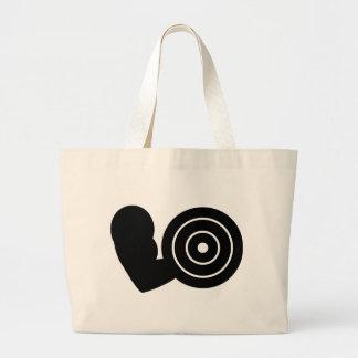 bodybuilding icon large tote bag