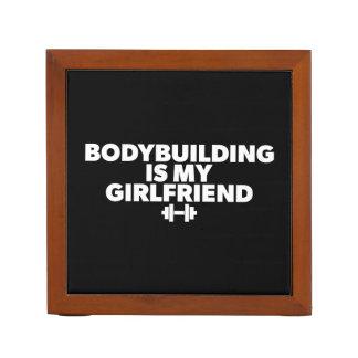 Bodybuilding is My Girlfriend - Workout Motivation Desk Organizer