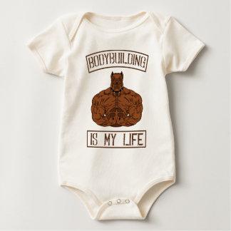 Bodybuilding Is My Life bodybuilding Gym fitness Baby Bodysuit