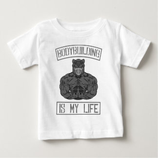 Bodybuilding Is My Life Gym fitness Dumbbells Baby T-Shirt