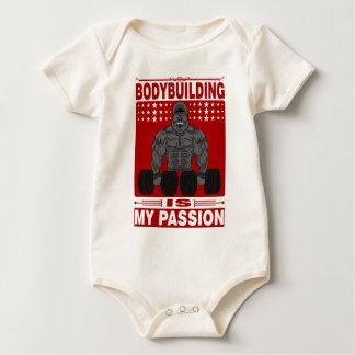 Bodybuilding Is My passion Bodybuilder fitness Baby Bodysuit